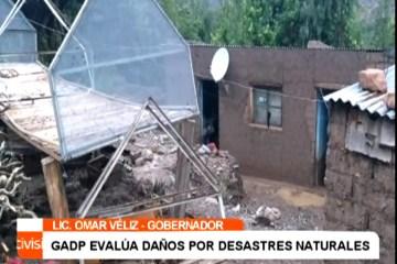 GADP EVALÚA DAÑOS POR DESASTRES NATURALES