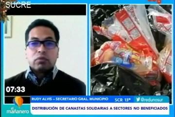 DISTRIBUCIÓN DE CANASTAS SOLIDARIAS A SECTORES NO BENEFICIADOS