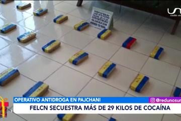 FELCN SECUESTRA MÁS DE 29 KILOS DE COCAÍNA