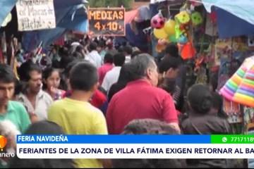 FERIANTES DE LA ZONA DE VILLA FÁTIMA EXIGEN RETORNAR AL BARRIO