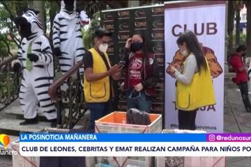 POSINOTICIA: CLUB DE LEONES, CEBRITAS Y EMAT REALIZAN CAMPAÑA PARA NIÑOS
