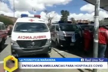 POSINOTICIA: ENTREGARON AMBULANCIAS PARA HOSPITALES COVID