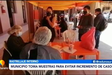 MUNICIPIO TOMA MUESTRAS INTERNAS PARA EVITAR INCREMENTO DE CASOS