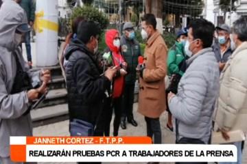 REALIZARÁN PRUEBAS PCR A TRABAJADORES DE LA PRENSA