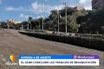 GOBIERNO MUNICIPAL CONCLUIRÁ LOS TRABAJOS EN AV. 6 DE AGOSTO