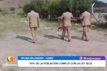 EL 90% DE LA POBLACIÓN CUMPLIÓ CON LA LEY SECA