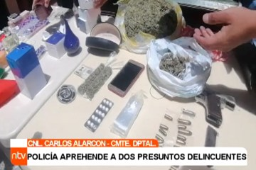 POLICÍA APREHENDE A DOS PRESUNTOS ATRACADORES