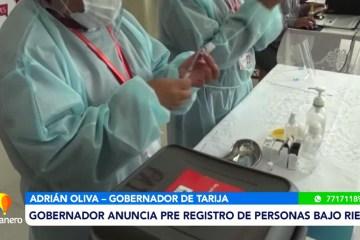 GOBERNADOR ANUNCIA PRE REGISTRO DE PERSONAS BAJO RIESGO