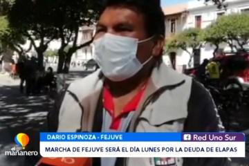 MARCHA DE FEJUVE POR LA DEUDA DE ELAPAS SERÁ EL DÍA LUNES