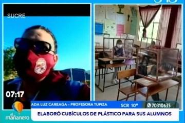 POSINOTICIA: PROFESORA ELABORÓ CUBÍCULOS DE PLÁSTICO PARA SUS ALUMNOS