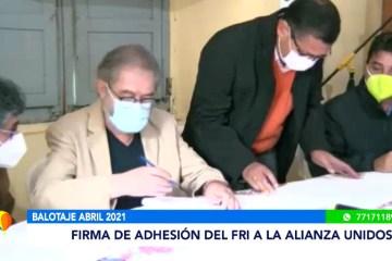 FIRMA DE ADHESIÓN DEL FRI A LA ALIANZA UNIDOS
