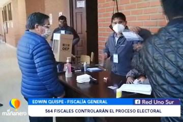 564 FISCALES DE MATERIA CONTROLARÁN EL PROCESO ELECTORAL