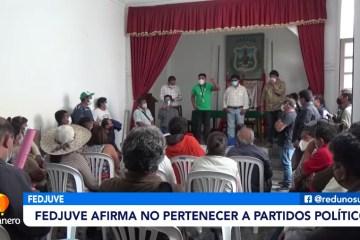 FEDJUVE AFIRMA NO PERTENECER A NINGÚN PARTIDO POLÍTICO