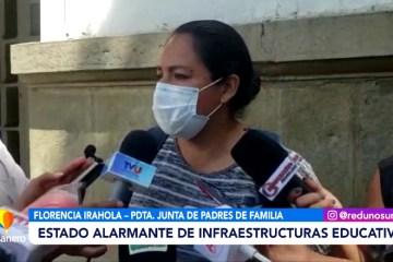 RECLAMAN POR EL ESTADO ALARMANTE DE INFRAESTRUCTURAS EDUCATIVAS