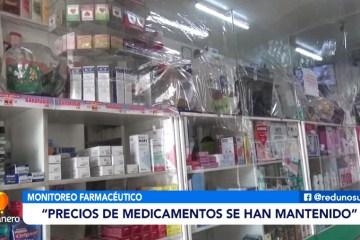 """CÁCERES: """"PRECIOS DE MEDICAMENTOS SE HAN MANTENIDO"""""""