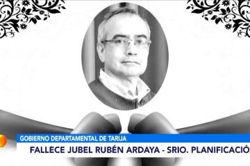 FALLECE JUBEL RUBÉN ARDAYA, SECRETARIO DE PLANIFICACIÓN