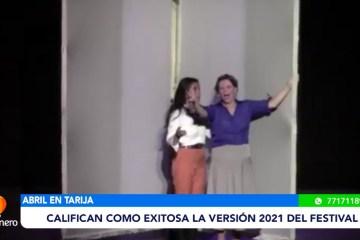 """CALIFICAN COMO EXITOSO EL FESTIVAL """"ABRIL EN TARIJA"""""""