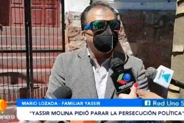 FAMILIARES DE YASSIR MOLINA LLEGARON A LA CAPITAL