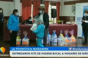 POSINOTICIA: ENTREGARON KITS DE HIGIENE BUCAL A HOGARES DE NIÑOS
