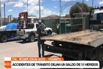 ACCIDENTES DE TRÁNSITO DEJAN UN SALDO DE 51 HERIDOS EN FIN DE SEMANA
