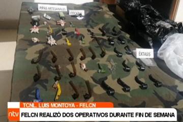 FELCN REALIZÓ DOS OPERATIVOS DURANTE FIN DE SEMANA