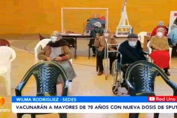 VACUNARÁN A MAYORES DE 70 AÑOS CON NUEVAS DOSIS DE SPUTNIK V