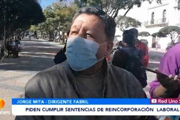 FABRILES PIDEN CUMPLIR SENTENCIAS DE REINCORPORACIÓN LABORAL