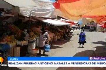 REALIZAN PRUEBAS ANTÍGENO NASALES A VENDEDORAS DE MERCADOS