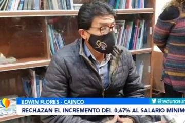 RECHAZAN EL INCREMENTO DEL 0.67% AL SALARIO MÍNIMO