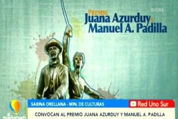 POSINOTICIA: CONVOCATORIA AL PREMIO JUANA AZURDUY Y MANUEL A. PADILLA