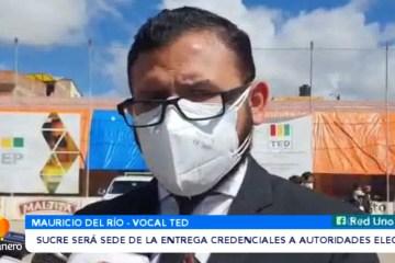 SUCRE SERÁ SEDE DE LA ENTREGA DE CREDENCIALES A AUTORIDADES ELECTAS