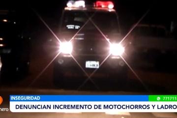 DENUNCIAN INCREMENTO DE MOTOCHORROS Y LADRONES