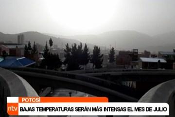 BAJAS TEMPERATURAS SERÁN MÁS INTENSAS EL MES DE JULIO