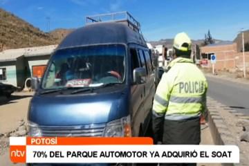 70% DEL PARQUE AUTOMOTOR YA ADQUIRIÓ EL SOAT