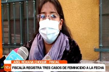FISCALÍA REGISTRÓ TRES CASOS DE FEMINICIDIO EN ESTA GESTIÓN