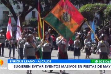 ALCALDE SUGIERE EVITAR EVENTOS MASIVOS EN FIESTAS DE MAYO