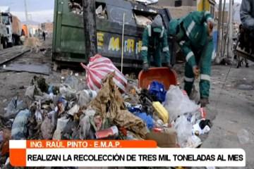 EMAP RECOLECTA TRES MIL TONELADAS DE BASURA AL MES