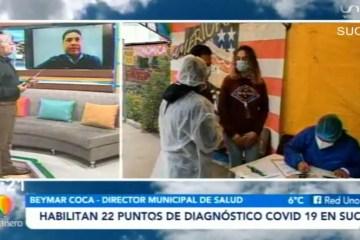 HABILITAN 22 PUNTOS DE DIAGNÓSTICO COVID 19 EN SUCRE