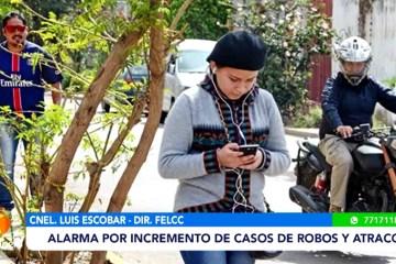ALARMA POR EL INCREMENTO DE CASOS DE ROBOS Y ATRACOS
