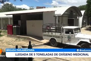 LLEGADA DE CINCO TONELADAS DE OXÍGENO MEDICINAL