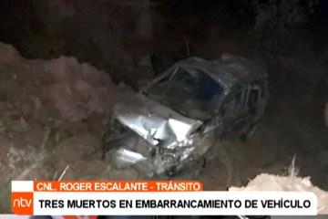ACCIDENTES EN FIN DE SEMANA DEJAN CUATRO FALLECIDOS