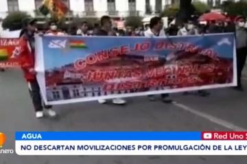 NO DESCARTAN MOVILIZACIONES POR PROMULGACIÓN DE LA LEY 248