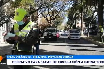 OPERATIVO PARA SACAR DE CIRCULACIÓN A INFRACTORES