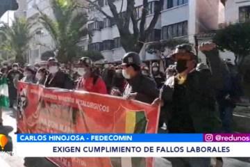 MINEROS EXIGEN CUMPLIMIENTO DE FALLOS LABORALES