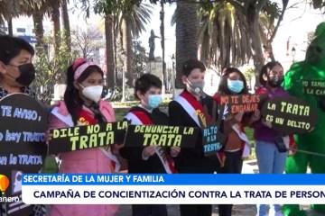 CAMPAÑA DE CONCIENTIZACIÓN CONTRA LA TRATA DE PERSONAS