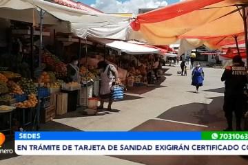 EXIGIRÁN CERTIFICADO DE VACUNACIÓN PARA OTORGAR TARJETAS DE SANIDAD