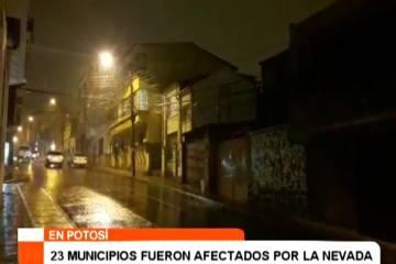 23 MUNICIPIOS FUERON AFECTADOS POR LA NEVADA