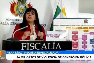 26 MIL CASOS DE VIOLENCIA DE GÉNERO EN BOLIVIA