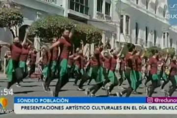 PRESENTACIONES ARTÍSTICAS CULTURALES EN EL DÍA DEL FOLKLORE