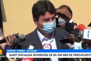GAMT SOCIALIZA INVERSIONES DE BS. 458 MMM DE PRESUPUESTO